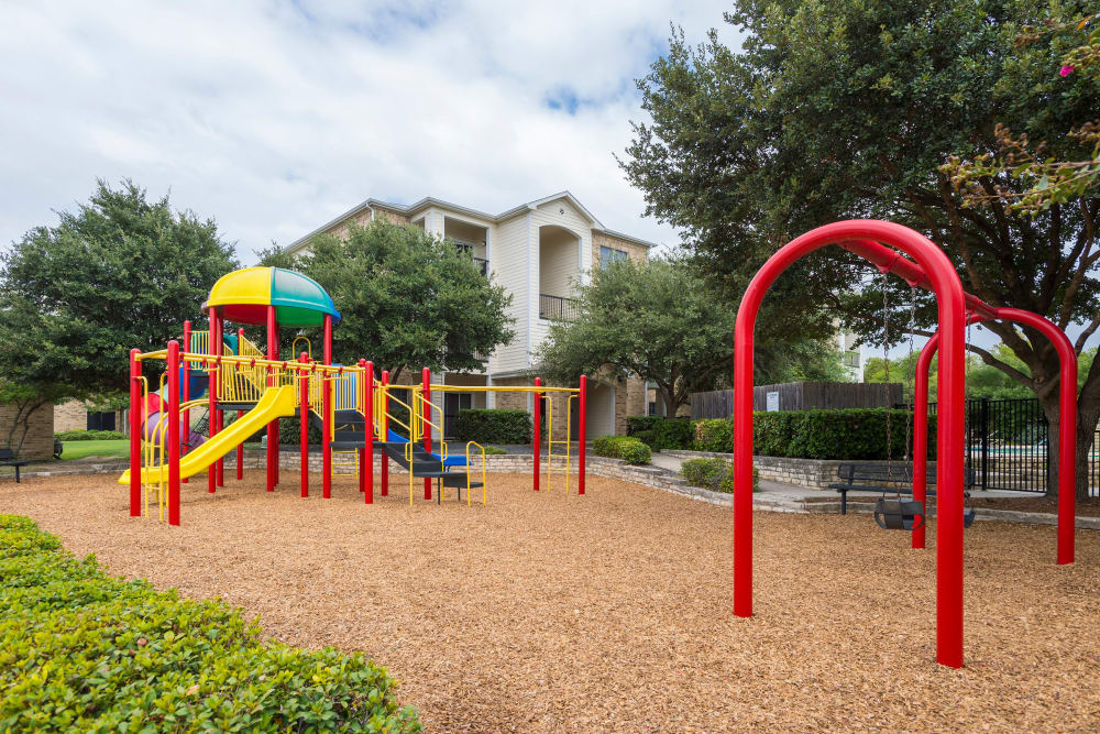 Stoneybrook Apartments & Townhomes in San Antonio, Texas showcase a playground