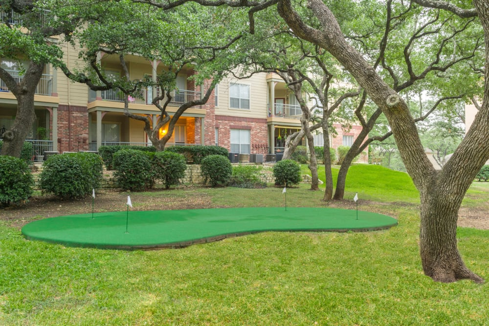 Mini golf court at The Estates of Northwoods in San Antonio, Texas