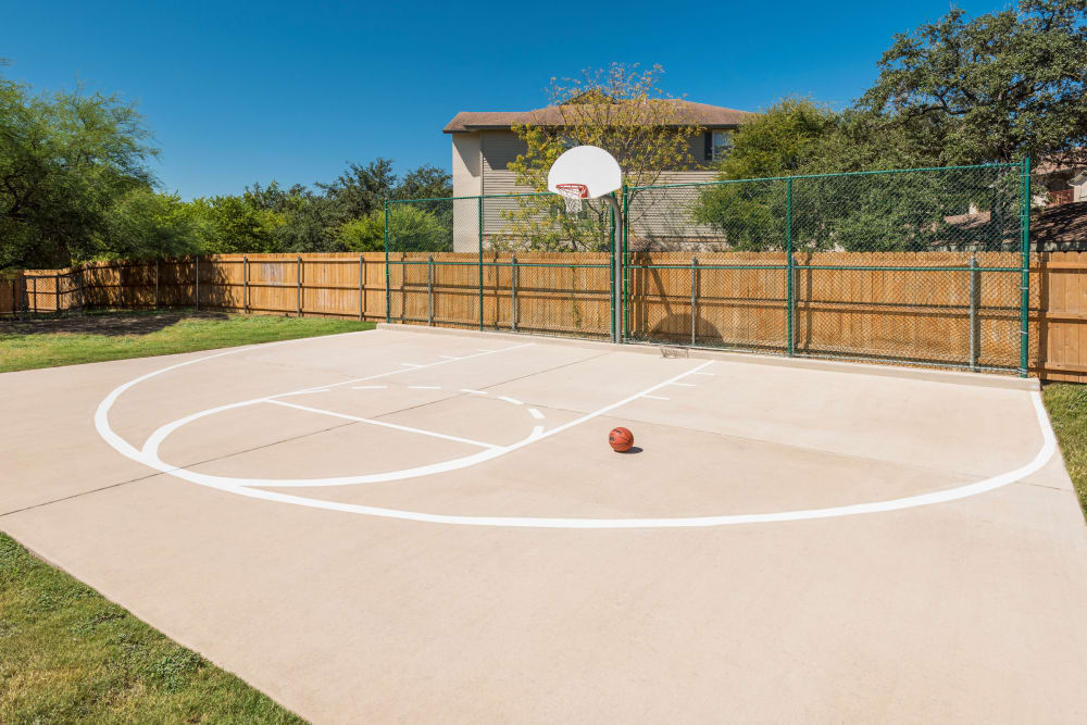 Basketball court at The Estates of Northwoods in San Antonio, Texas