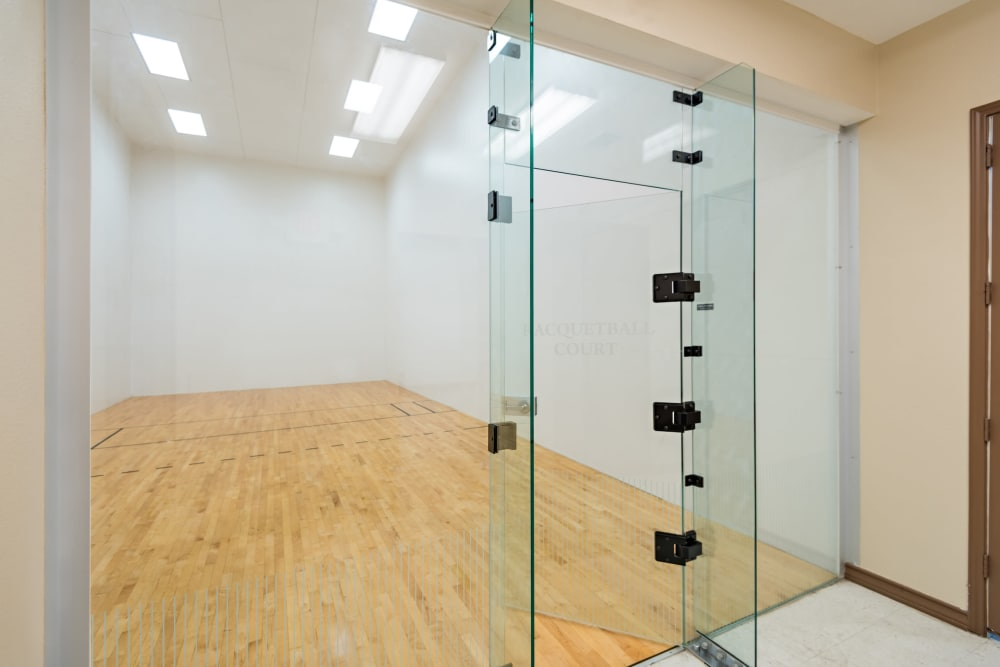 Racquet ball court doors at The Lodge at Shavano Park in San Antonio, Texas