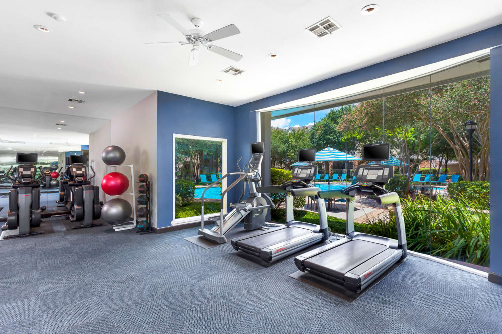 Fitness center at The Lodge at Shavano Park in San Antonio, Texas