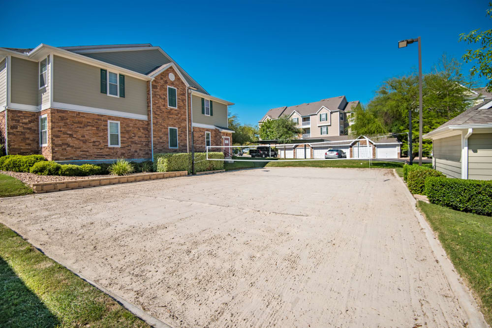 Sand volleyball court at The Lodge at Shavano Park in San Antonio, Texas