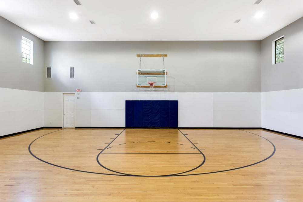 Basketball court at The Lodge at Shavano Park in San Antonio, Texas