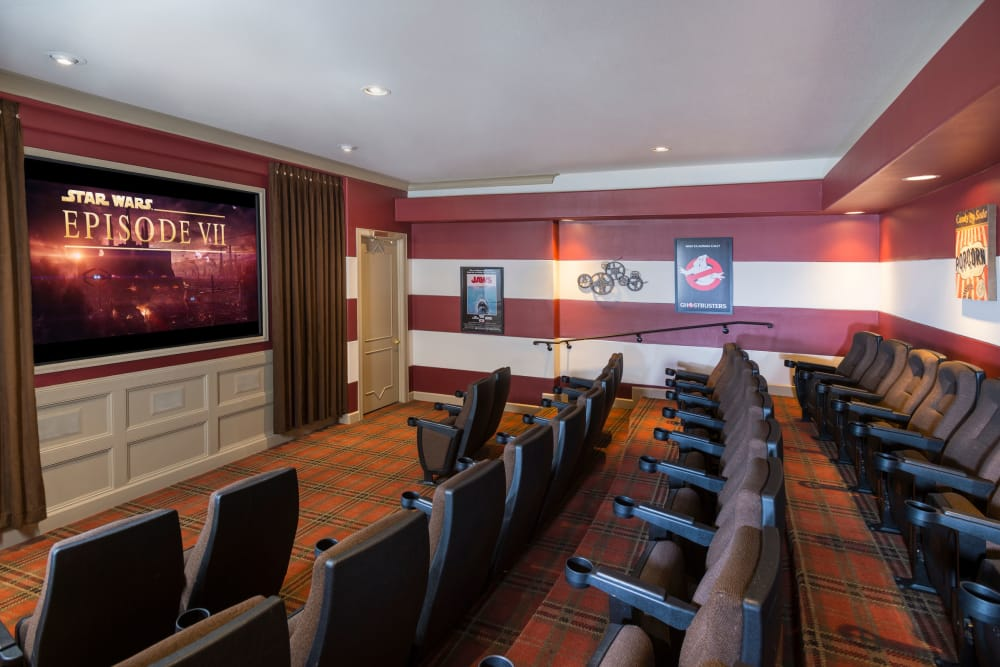 Movie theater at The Lodge at Westover Hills in San Antonio, Texas