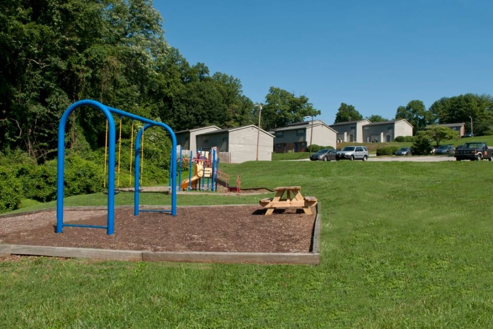 Playground area at Deane Hill in Knoxville, Tennessee