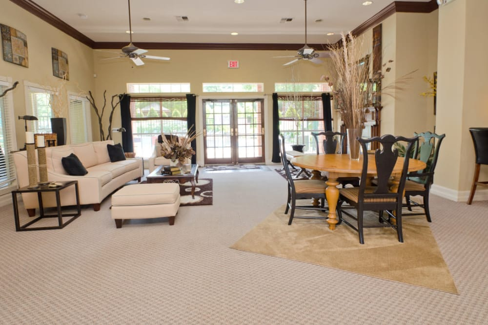 Interior of the Pinnacle Heights clubhouse in Antioch, Tennessee