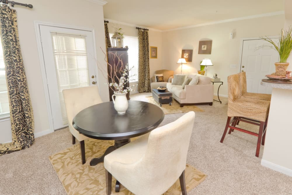 Ample dining area and living room at Pinnacle Heights in Antioch, Tennessee