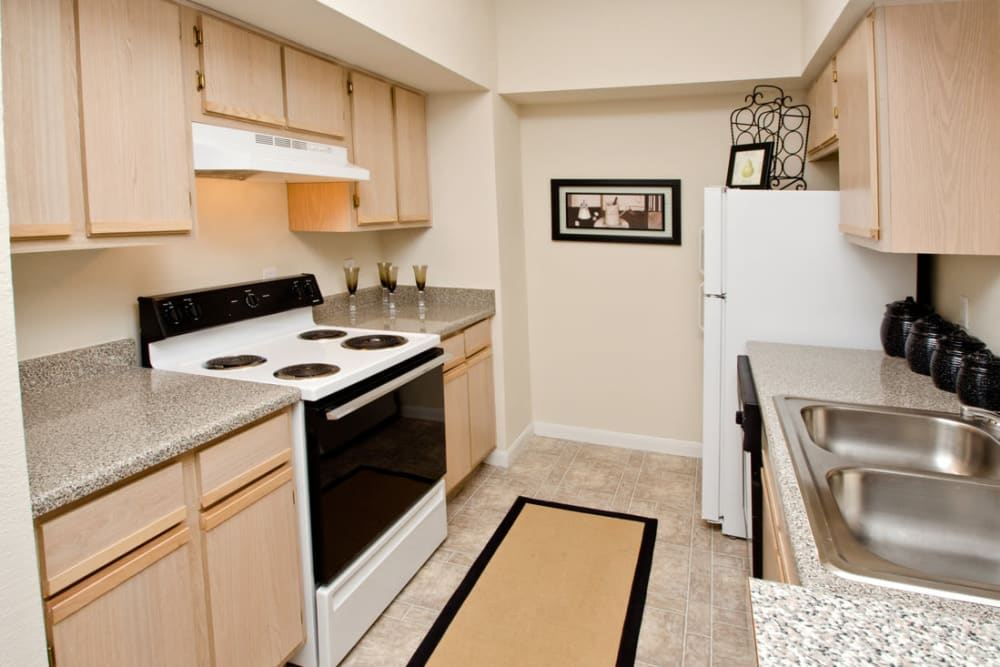 Fully-equipped kitchen at Pinnacle Heights in Antioch, Tennessee