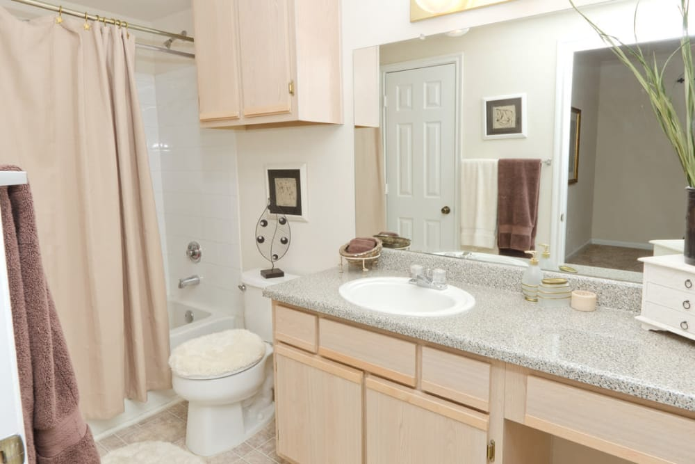 Spacious bathroom at Pinnacle Heights in Antioch, Tennessee