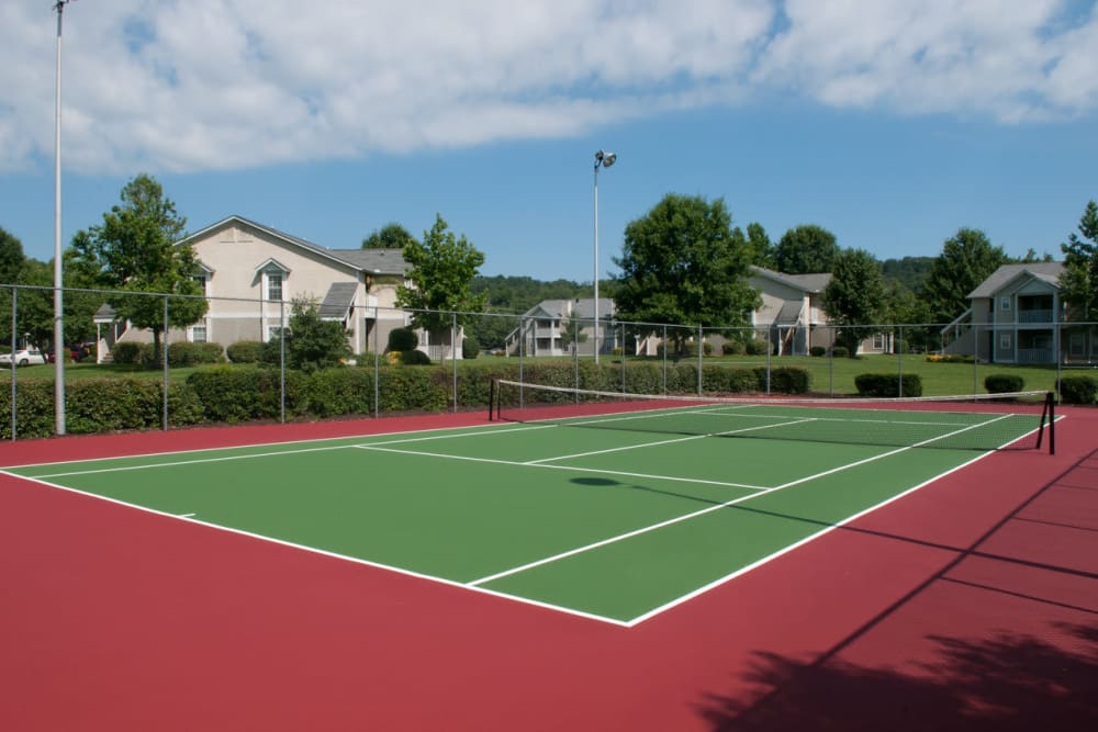 Have fun playing in the tennis court at Spring Meadow in Knoxville, Tennessee
