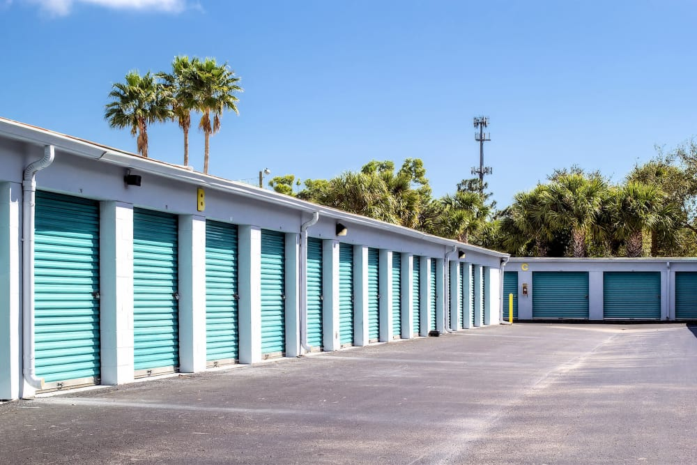 Outdoor storage units at Prime Storage in Stuart, Florida