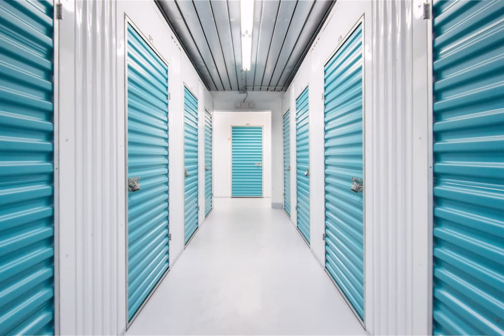 Hallway of units at Prime Storage in Stuart, Florida