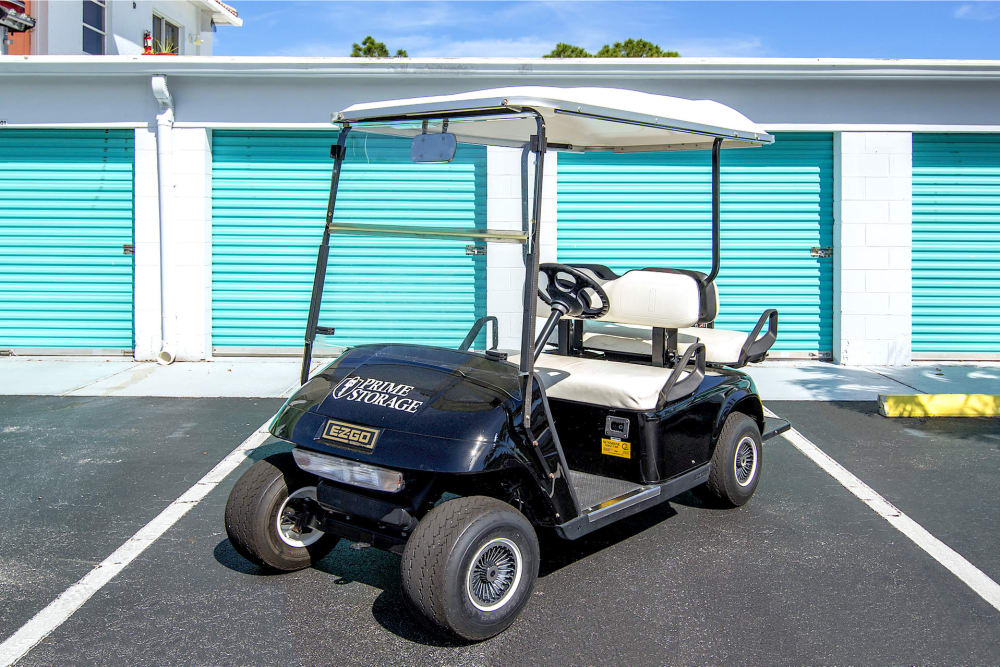 Dollies and carts available at Prime Storage in Stuart, Florida