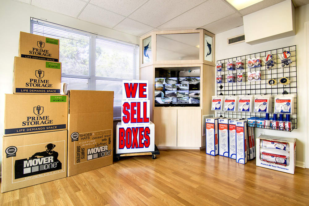 Choose your packing and moving supplies at Prime Storage in Stuart, Florida
