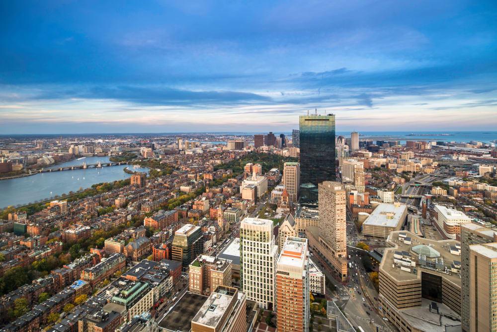 City overview near Boylston Crossing Apartment Homes in Boston, MA