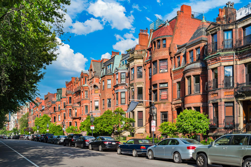 Exterior view of Boylston Crossing Apartment Homes in Boston, MA