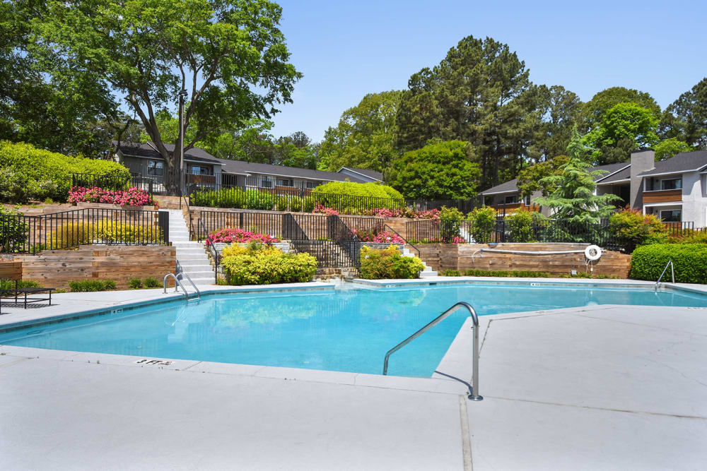 Outdoor pool at the Alcove in Smyrna, GA