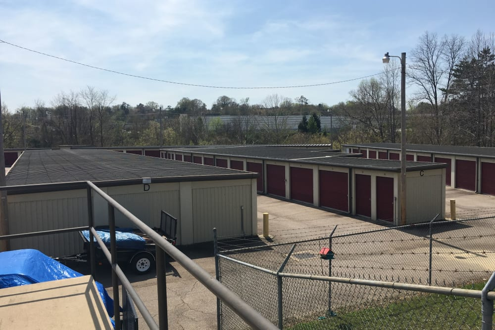 Storage units are fully fenced at Winter's Storage in Danville, Virginia