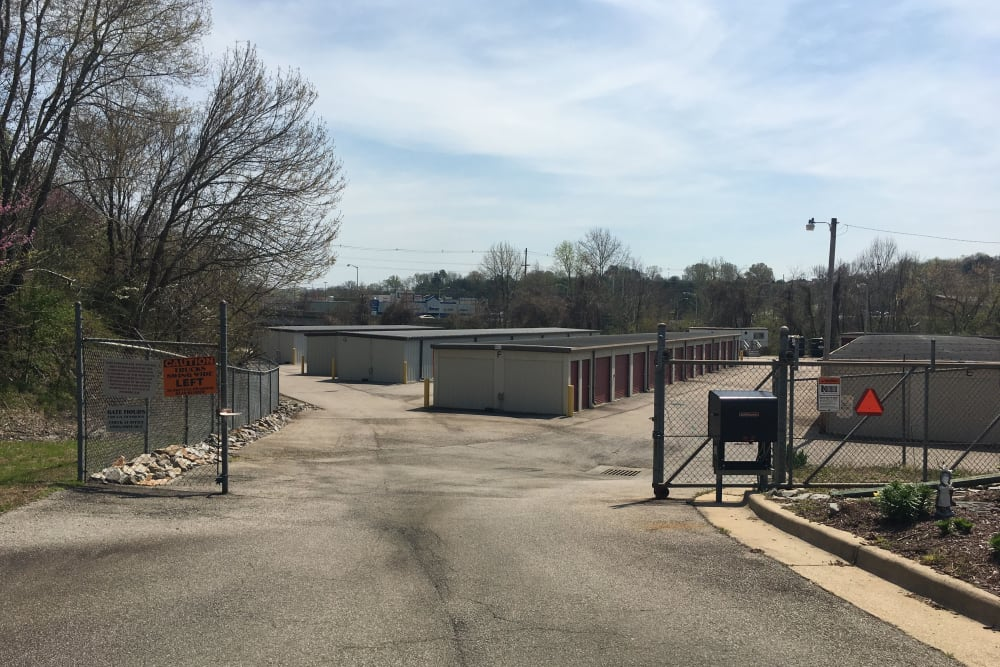 Gated entry at Winter's Storage in Danville, Virginia
