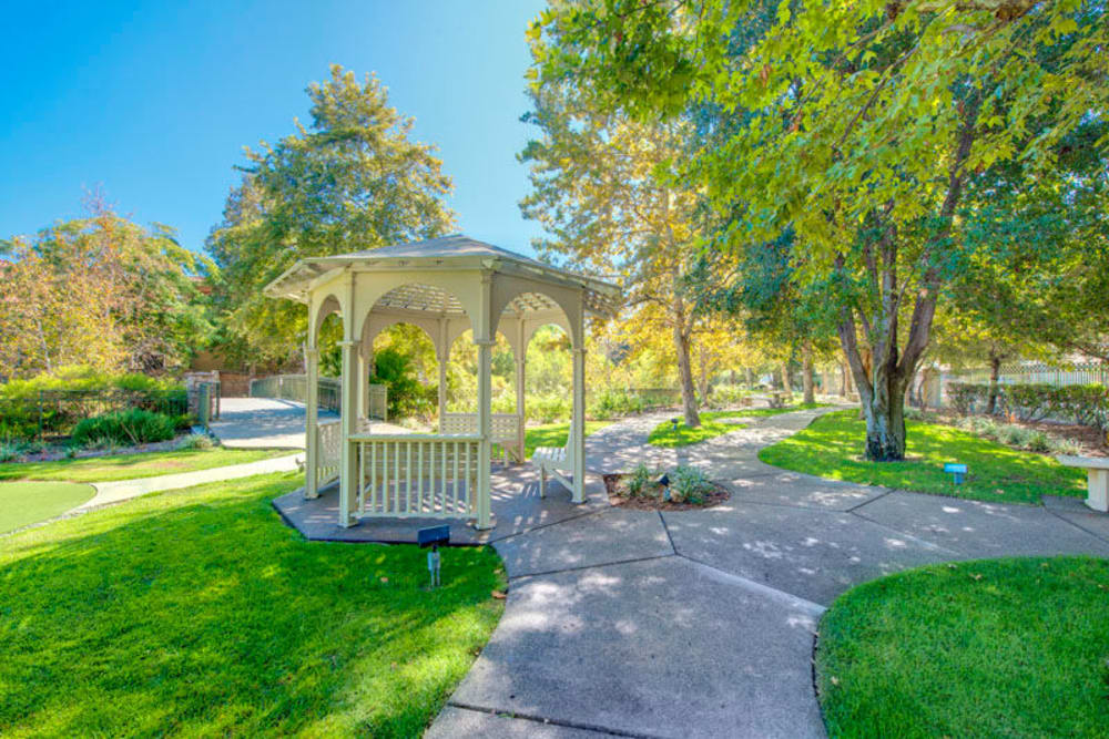 Regency Grand at West Covina beautiful gazebo and walking paths in West Covina, CA