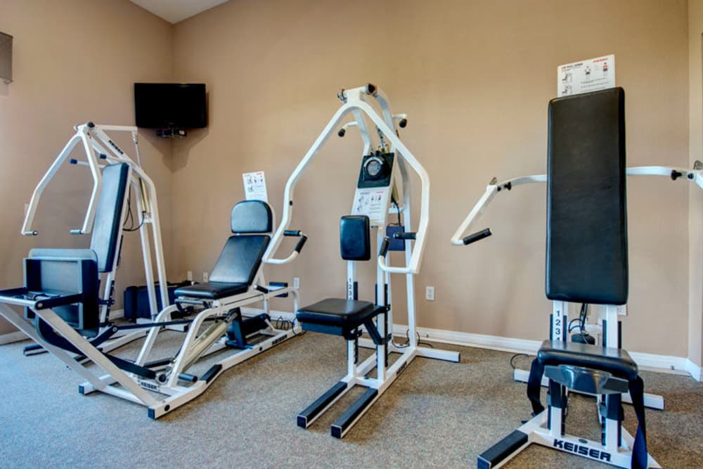 Fitness center at Regency Grand at West Covina in West Covina, CA