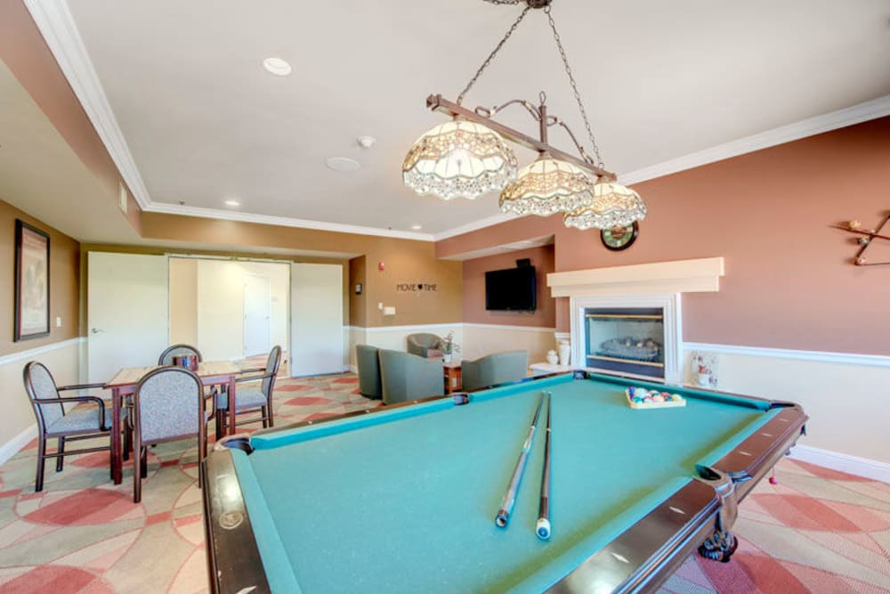 Game room at Regency Grand at West Covina in West Covina, CA