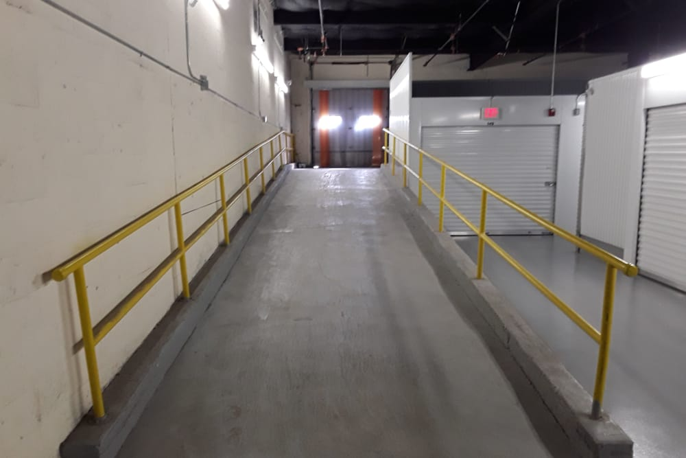 Covered loading area at Prime Storage in Warren, Rhode Island