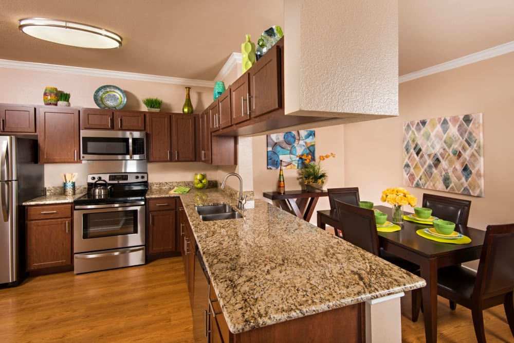 Luxury kitchen at apartments in San Antonio, Texas