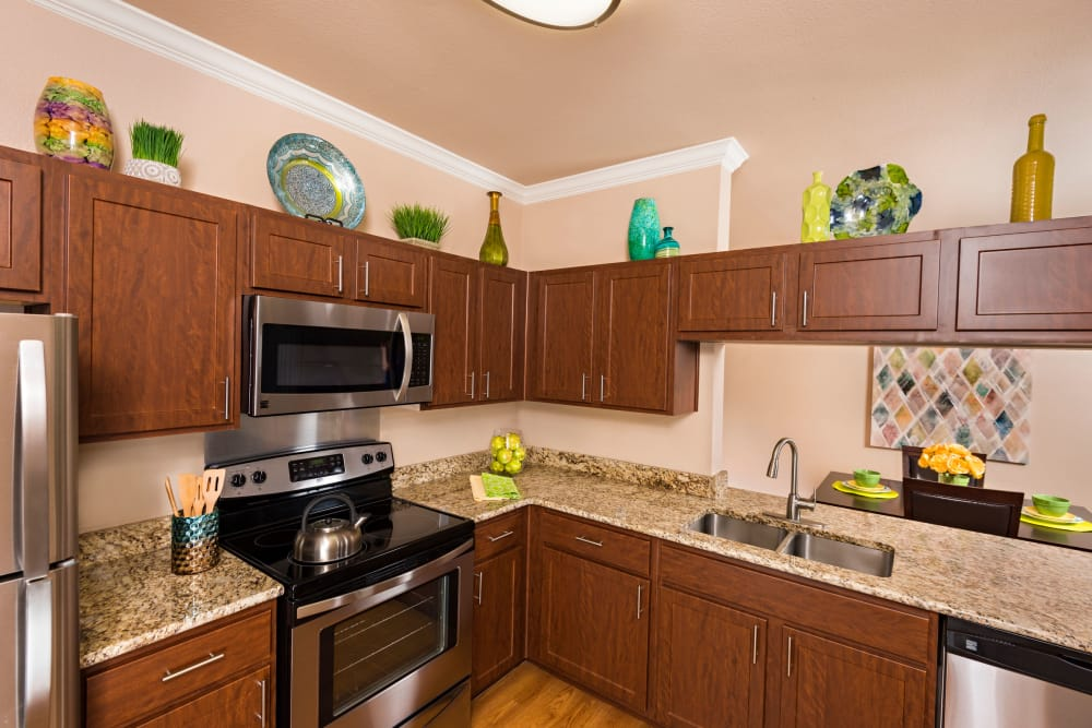 Our apartments in San Antonio, Texas showcase a modern kitchen