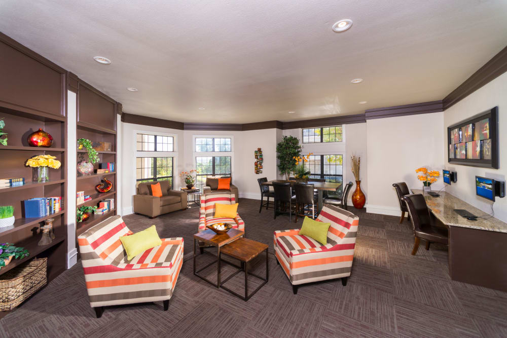 Luxurious clubhouse at Mira Vista at La Cantera in San Antonio, Texas