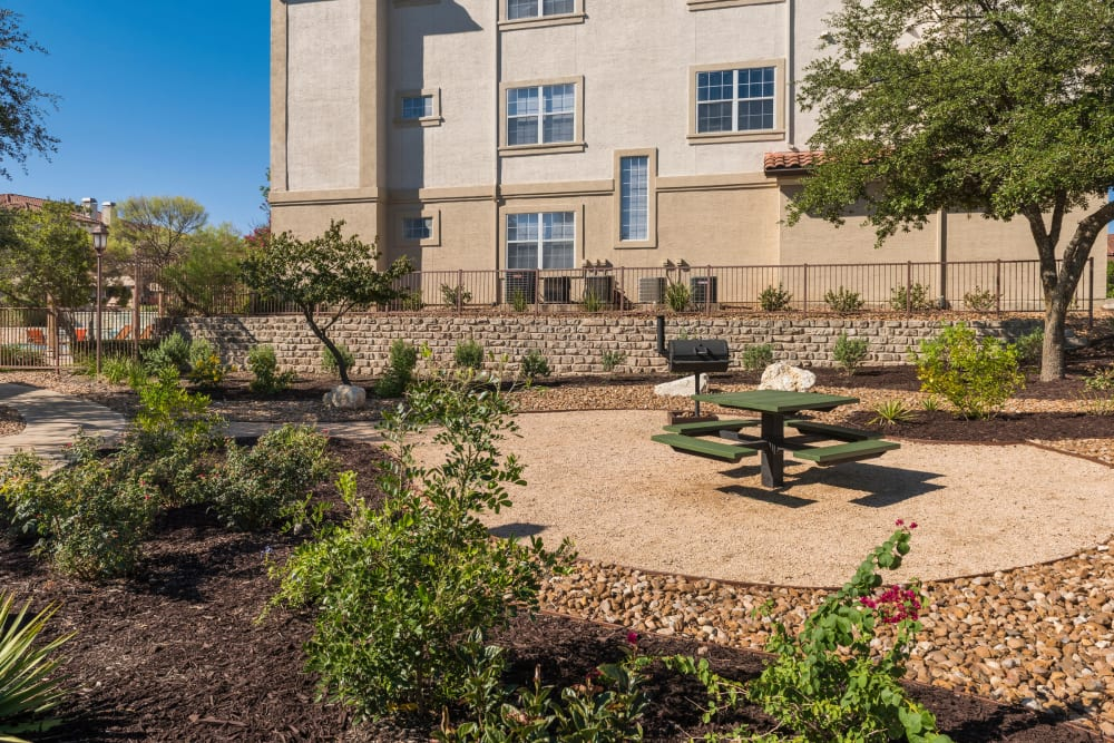 Unique BBQ area at apartments in San Antonio, Texas