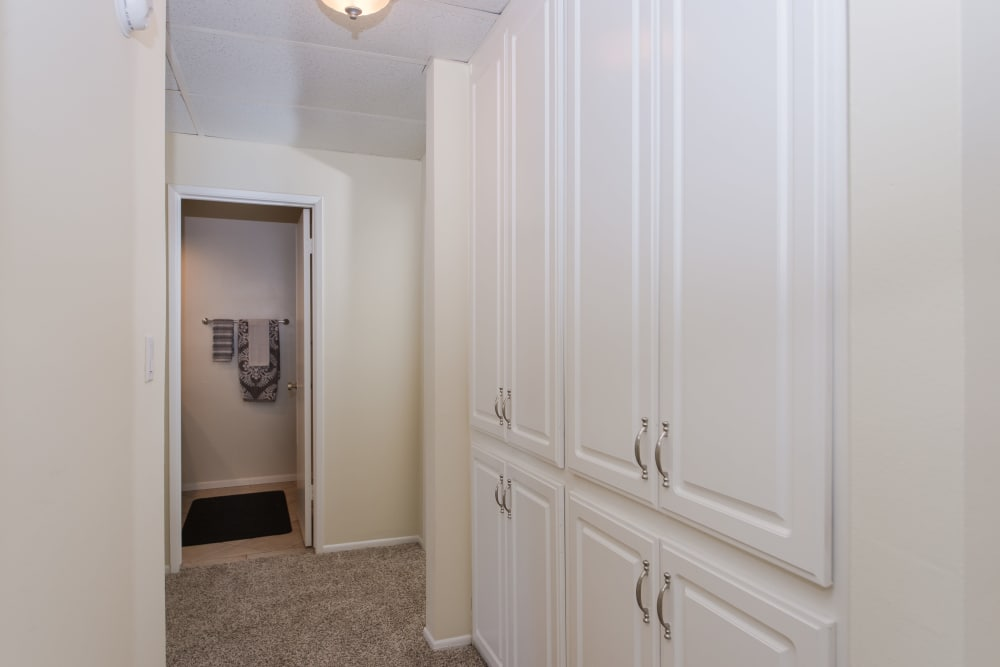 Plenty of extra storage in model home at IMT Beverly Arnaz in Los Angeles, CA