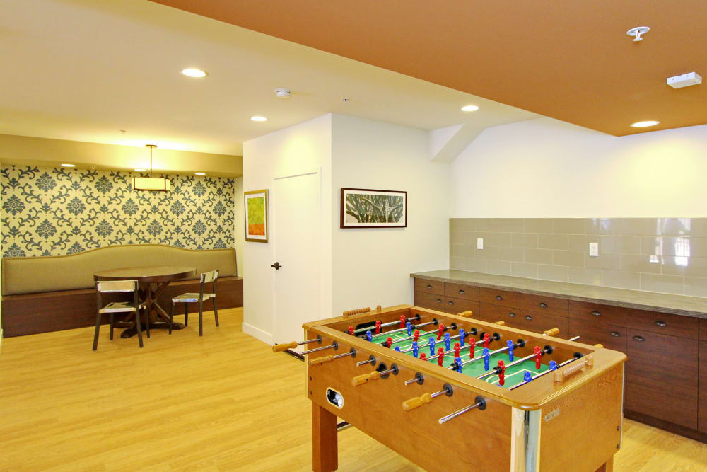 Foosball and more in resident lounge at IMT Magnolia in Sherman Oaks, CA