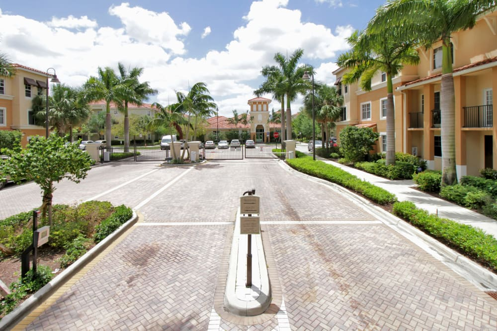 Driveway to IMT Miramar with access-control gate in Miramar, FL