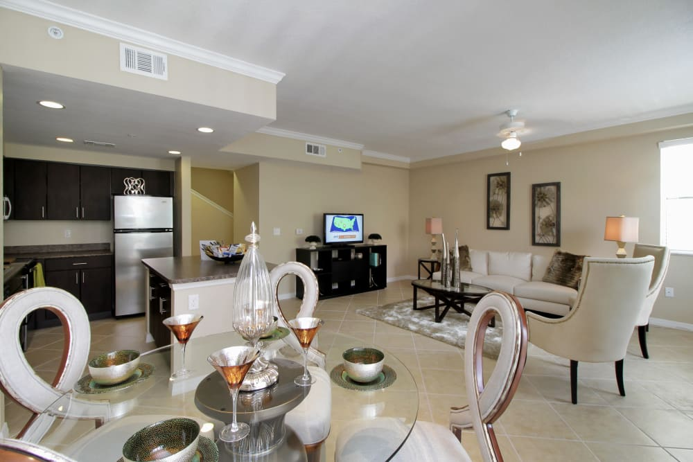 Very well-decorated model home at IMT Miramar in Miramar, FL