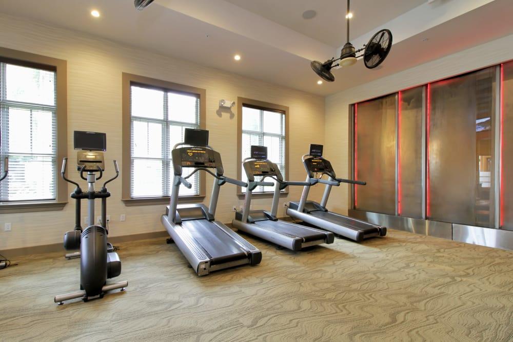 Fitness center with plenty of equipment at IMT Miramar in Miramar, Florida