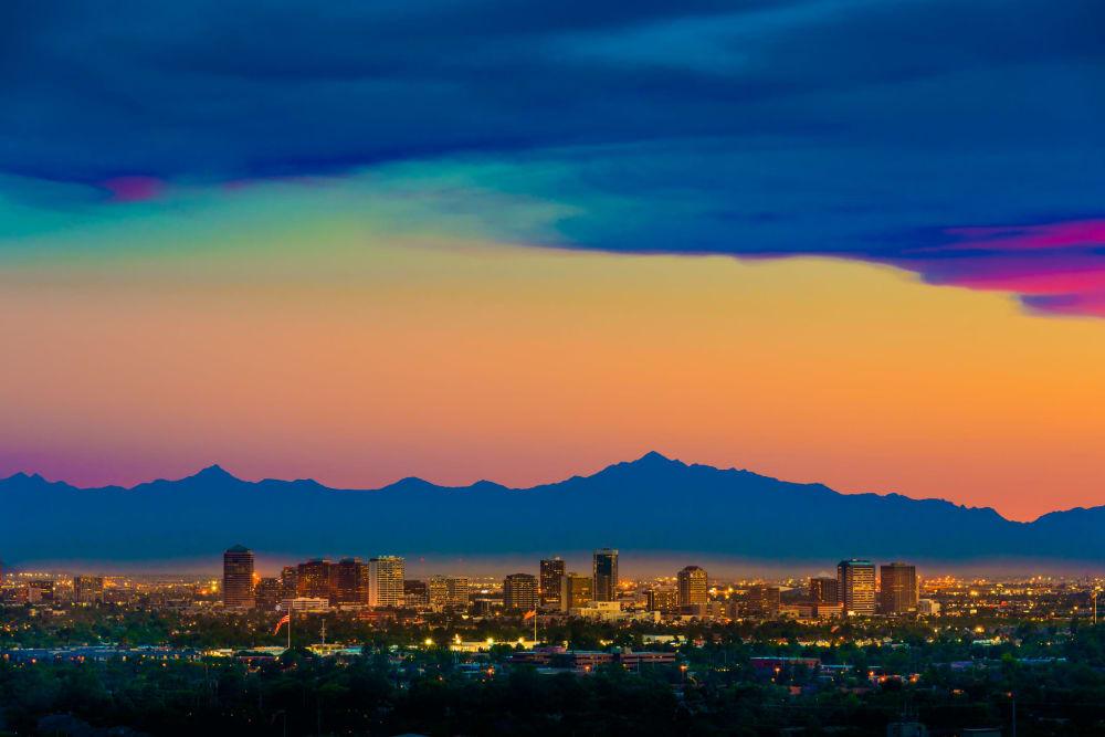 Skyline view of Phoenix, AZ
