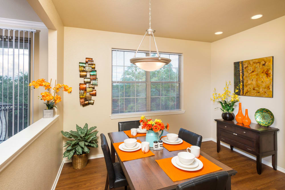 Dining room at apartments in San Antonio, Texas