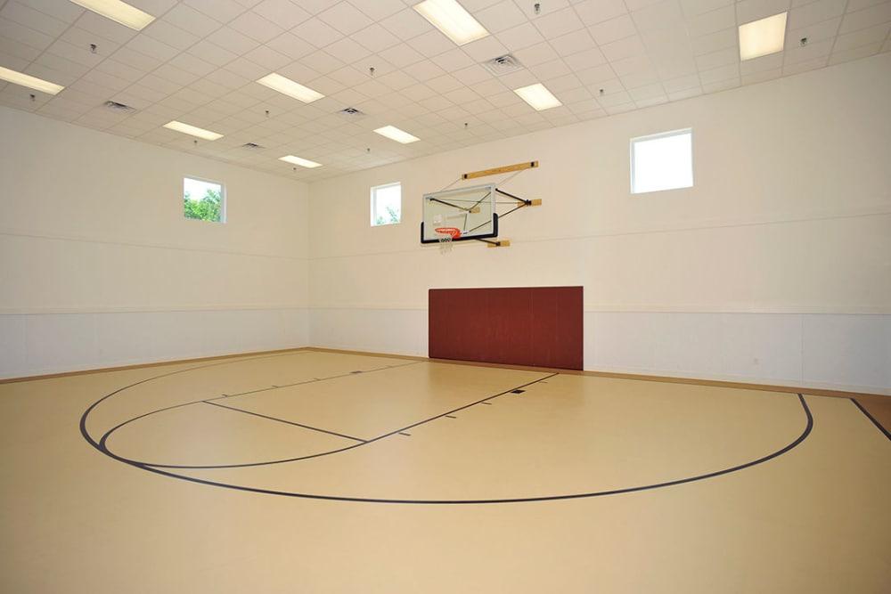 Villas of Preston Creek offers an indoor basketball court in Plano, Texas