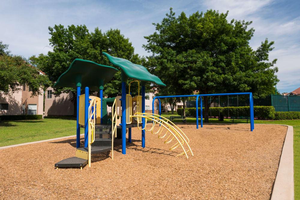 The playground at Villas of Preston Creek in Plano, Texas