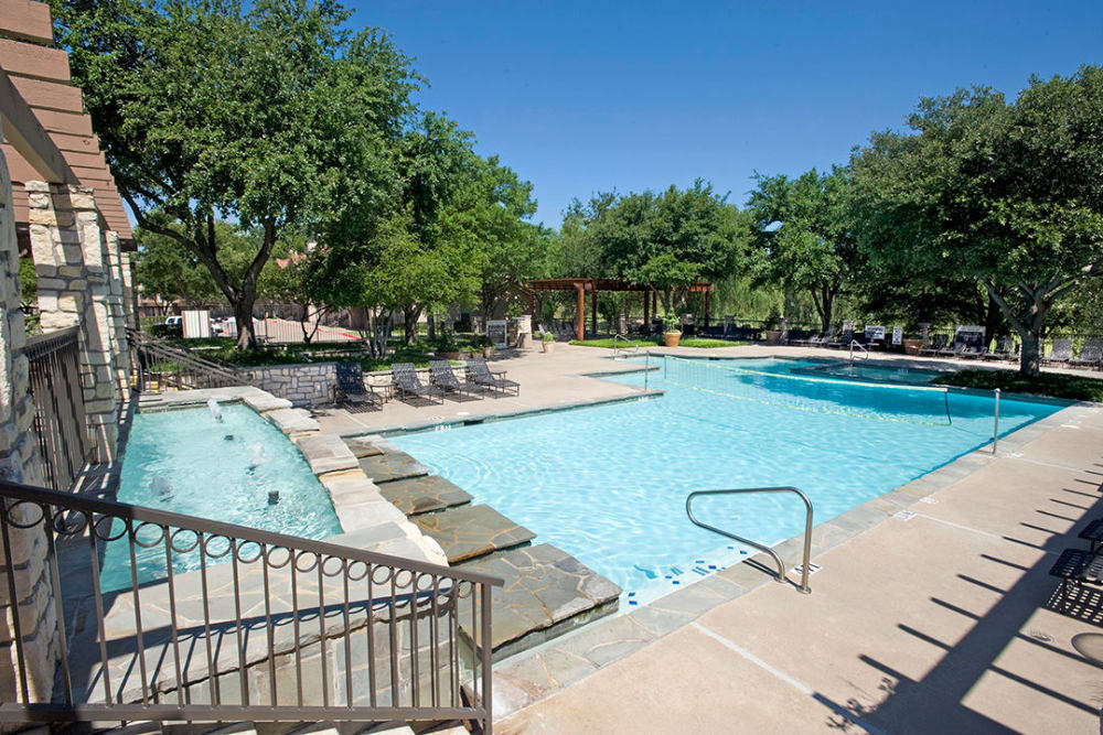 Swimming pool at Villas of Preston Creek in Plano, Texas