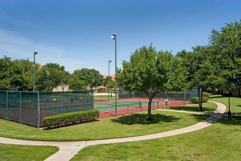 Nice tennis court at Villas of Preston Creek in Plano, Texas