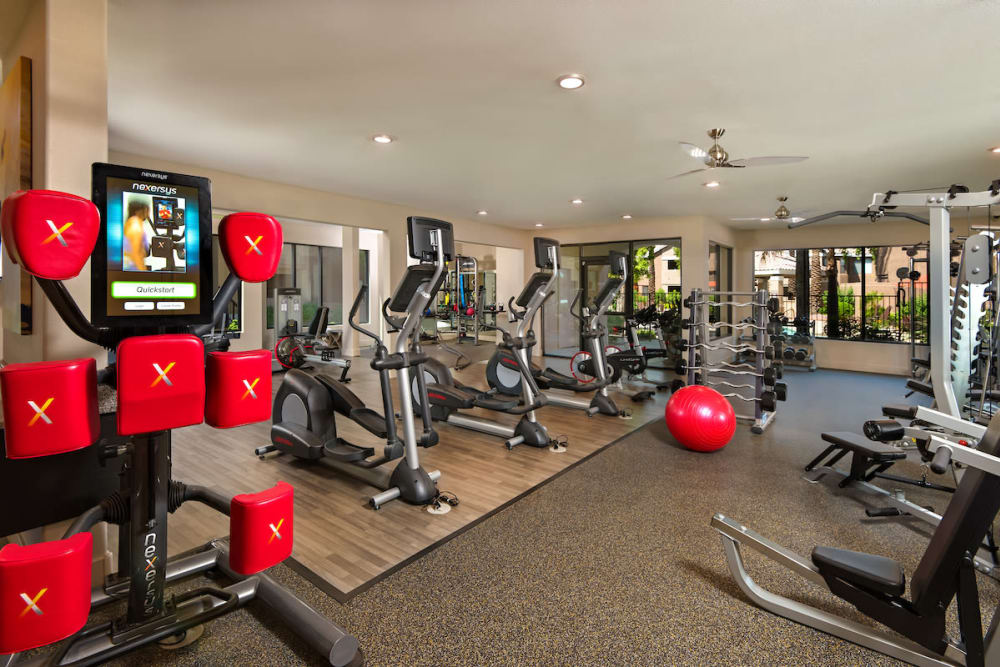 Fitness center at The Palisades at Paradise Valley Mall in Phoenix, Arizona