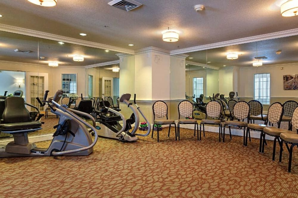 Beautiful fitness center at Heritage Springs in Las Vegas, Nevada