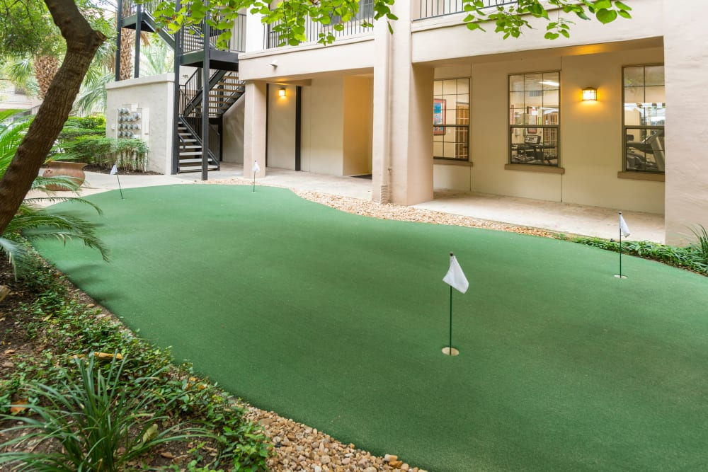 Putting green at The Vintage in San Antonio, Texas