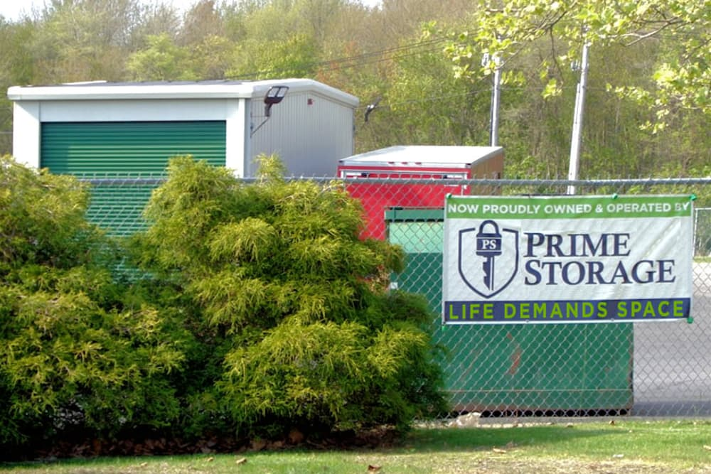 Sign at Prime Storage in Portsmouth, RI