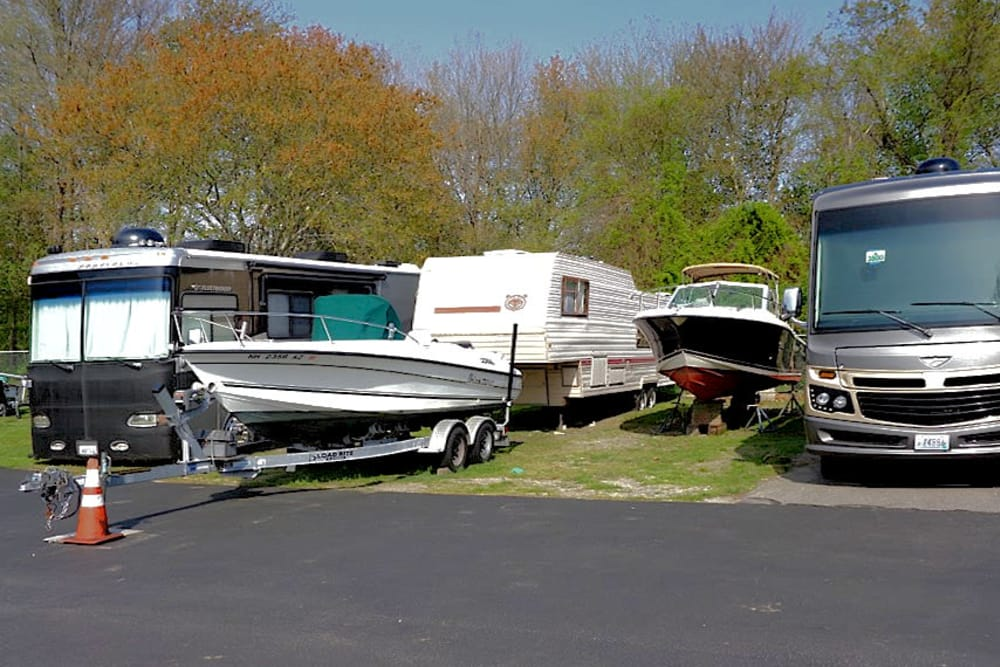 RV and Boat parking at Prime Storage in Portsmouth, RI