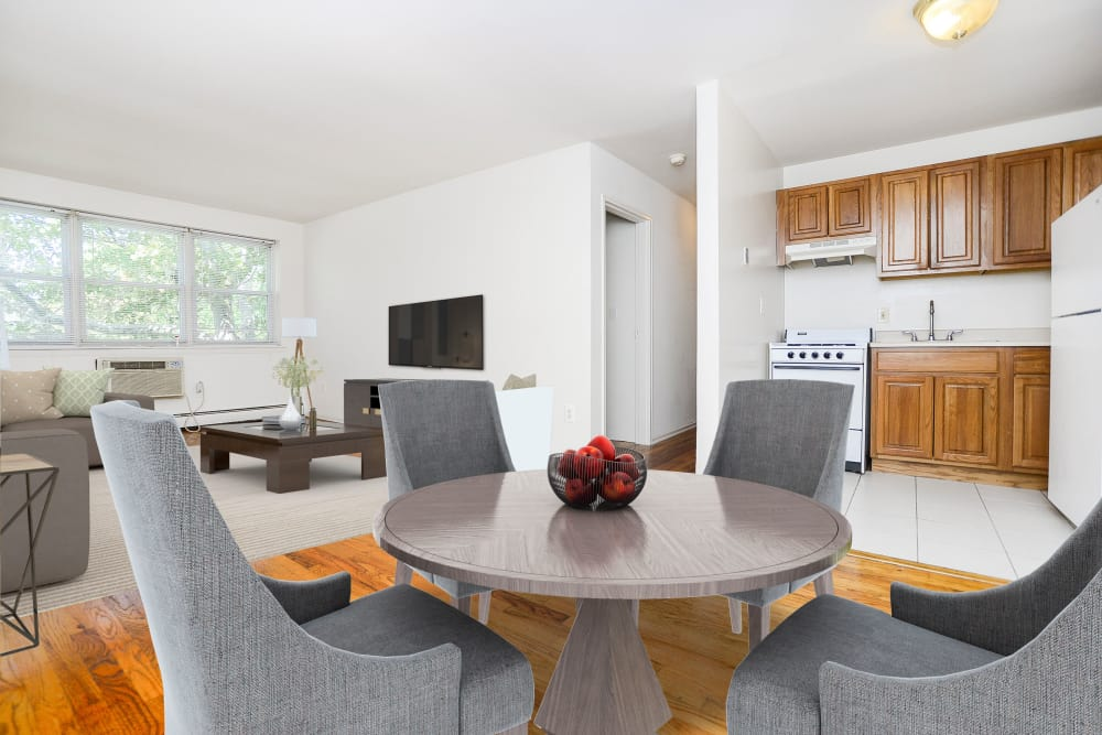 Spacious Dining & Living Room at Highland House Apartment Homes in Highland Park, New Jersey