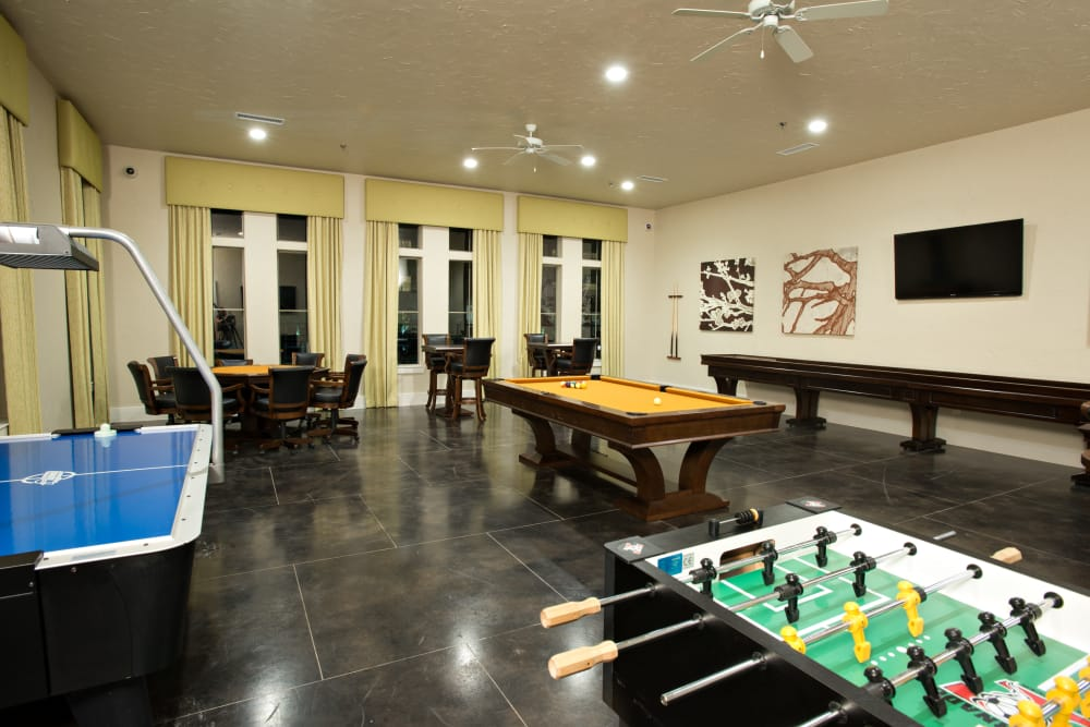 Spacious game room at Villas in Westover Hills in San Antonio, Texas