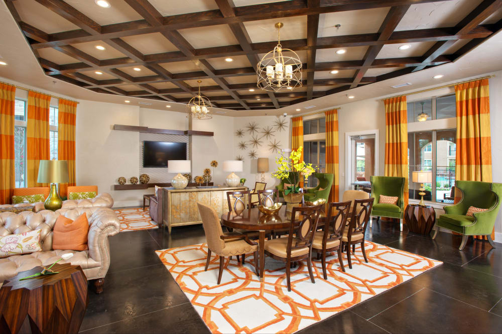 Luxury resident clubhouse at Villas in Westover Hills in San Antonio, Texas